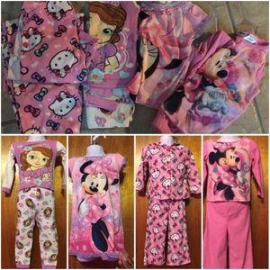Girls cartoon character pajama bundle